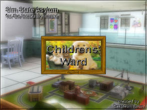 Sims 3 — Childrens Ward Sign by Cerulean Talon — We must be able to easily find the children's ward in any hospital.