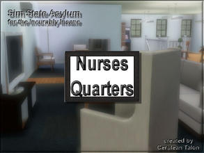 Sims 3 — Nurses Quarters Sign by Cerulean Talon — Nurses that live in, or have to stay on long shifts have to sleep