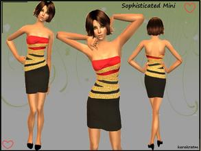 Sims 2 — Sophisticated Mini dress by karakratm — Ever so classy dress for your sims to wear to their parties and other