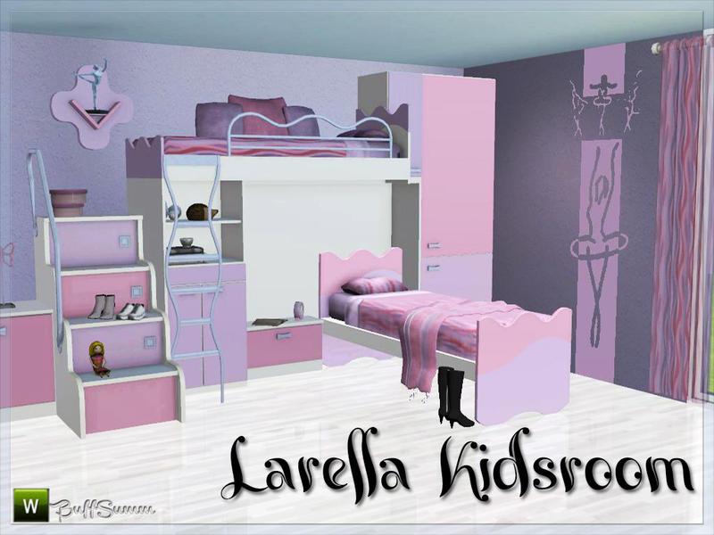 Buffsumm 39 s larella kidsroom for Sims 3 chambre bebe