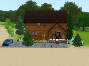Sims 3 — Sunset Bay 600 by Silerna — Sunset Bay 600 is a lovely forest house for your sims. It's ideal for a family of