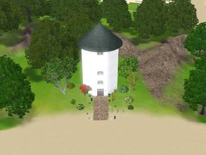 Sims 3 — Marble Street 38 by Silerna — An old Lighthouse transformed to home!There's a different room on each level: