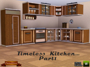 Sims 3 — Timeless Kitchen by Canelline by Canelline — This kitchen, classic style, is welcoming and equipped with 11