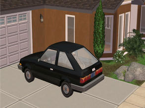 Sims 2 — MFG Maxi Hatchbak Recolor Black by mightyfaithgirl — Can\'t afford a better car than a cheapo Hatchbak? well now