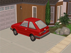 Sims 2 — MFG Maxi Hatchbak Recolor Red by mightyfaithgirl — Tired of driving around in a old crap car but can\'t afford a