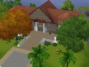Sims 3 — Sim Lane 39 *unfurnished* by Silerna — Sim Lane 39 is a large Mediterrean-themed house for sims that loves