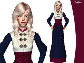 Sims 2 — Everyday Dress for Victorian Teens by giasims — Everyday Dress for Victorian Teens