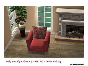 Sims 2 — MFG Holy Simoly Arizona Chair Recolor - Wine Paisley - 2 by mightyfaithgirl — Wine and Paisley recolor of Holy