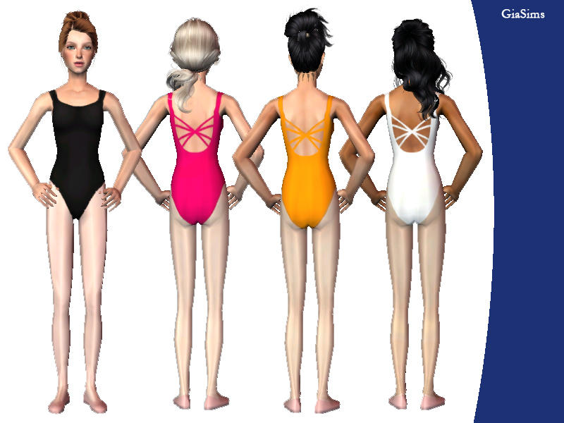 Giasims Strappy Back Ballet Leotard For Teens-3857