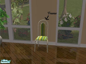 Sims 2 — MFG Dandy Table SET Recolor - White - Chair Frame by mightyfaithgirl — White recolor of Sim 2 Play\'s Dandy