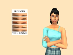 Sims 2 — Precious Thin Brow Set by Xodess — This is my first eye brow set... I decided to go thin, since that\'s what my