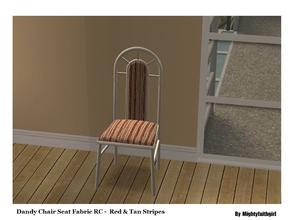 Sims 2 — MFG SH Dandy Chair Fabric SET #1 - Red and Tan Stripes by mightyfaithgirl — Red and Tan Striped fabric recolor