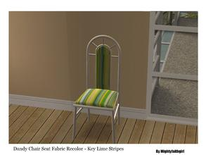 "Sims 2 — MFG SH Dandy Chair Fabric SET #1 - Key Lime Stripes by mightyfaithgirl — Yellow and green "" KEY"