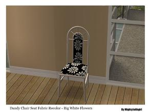 Sims 2 — MFG SH Dandy Chair Fabric SET #1 - Big white flowers by mightyfaithgirl — Big white flowers on black fabric