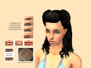 Sims 2 — _RomanticZ Set_ by Xodess — This set is made up of eyebrows (1 black & 4 different shades of brown), two