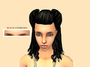 Sims 2 — _RomanticZ Set_ - Natural Thin Eyebrows [Black] by Xodess — These black eyebrows are a part of the *Romanticz