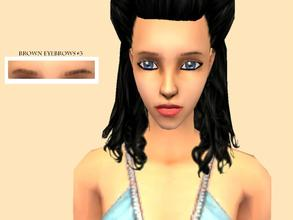Sims 2 — _RomanticZ Set_ - Natural Thin Eyebrows [Brown #3] by Xodess — These brown eyebrows are part of the *Romanticz