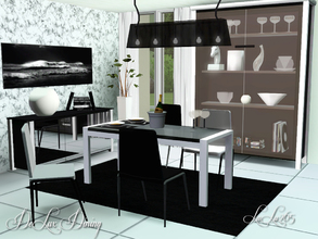 Sims 3 — DeLux Dining  Room by Lulu265 — This modern trendy black and white themed dining room will be perfect for any