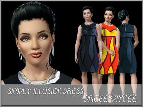 Sims 3 — Simply Illusion Dress by drteekaycee — Fall's fashion include the use of symmetry and elegance. This is a twist