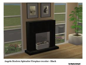 Sims 2 — AMV Modern Splendor Fireplace RC - Black by mightyfaithgirl — Black recolor of Angela\'s Modern Splendor