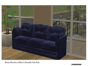 Sims 2 — MFG Denim Living Set  - RC Maxi Valu Sofa by mightyfaithgirl — Denim recolor of Maxi\'s Durable Valu Sofa.