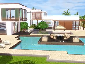 Sims 3 — Sunrise Avenue 136 by sinhhala — Ground floor: kitchen, diningroom, livingroom, library, guestroom, gym/hobby