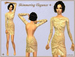 Sims 2 — Shimmering Elegance by karakratm — A shimmering backless dress for your glamorous sims. All different shades of