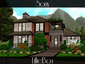 Sims 3 — Sony by lilliebou — This medium house is for a family of about 5 Sims. There is also place for a dog or a cat.