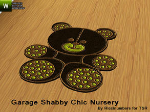 Sims 3 — Garage Shabby Chic Nursery Rug by TheNumbersWoman — Distressed and Cheapo Furniture. Plastering your game with