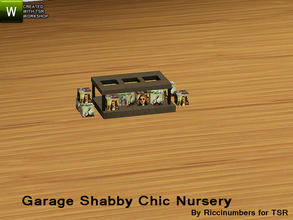 Sims 3 — Garage Shabby Chic Nursery Peg Box by TheNumbersWoman — Distressed and Cheapo Furniture. Plastering your game