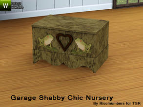 Sims 3 — Garage Shabby Chic Nursery ToyBox by TheNumbersWoman — Distressed and Cheapo Furniture. Plastering your game