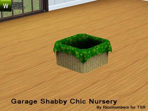 Sims 3 — Garage Shabby Chic Nursery Basket No Ribbon by TheNumbersWoman — Distressed and Cheapo Furniture. Plastering