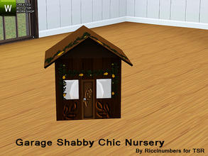 Sims 3 — Garage Shabby Chic Nursery Lamp by TheNumbersWoman — Distressed and Cheapo Furniture. Plastering your game with