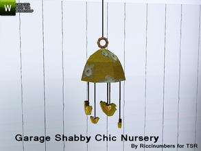 Sims 3 — Garage Shabby Chic Nursery Mobile by TheNumbersWoman — Distressed and Cheapo Furniture. Plastering your game