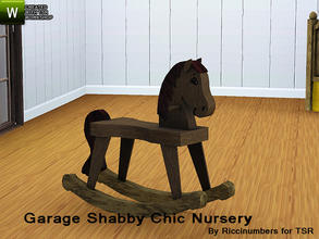Sims 3 — Garage Shabby Chic Nursery Rocking Horse by TheNumbersWoman — Distressed and Cheapo Furniture. NEEDS SN FOR
