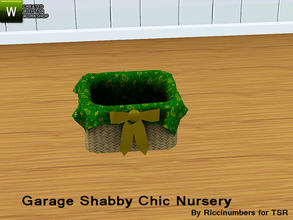 Sims 3 — Garage Shabby Chic Nursery Basket by TheNumbersWoman — Distressed and Cheapo Furniture. Plastering your game