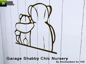 Sims 3 — Garage Shabby Chic Nursery Decal 2 by TheNumbersWoman — Distressed and Cheapo Furniture. Plastering your game