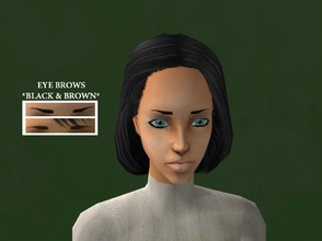 Sims 2 — Nice Eyebrows for your Sims by Xodess — This set has two eyebrows, black and dark brown for toddler-adult - both
