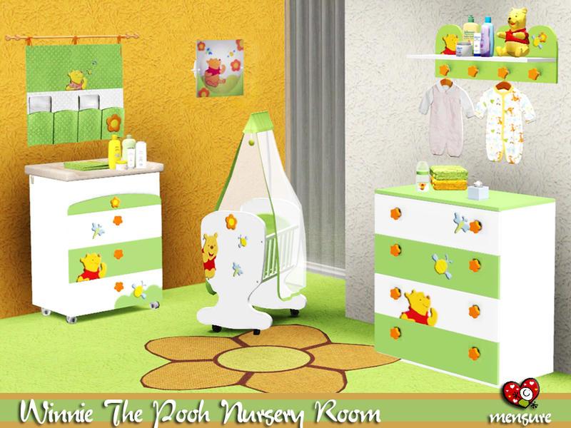 Mensure 39 s winnie the pooh nursery room - Sims 3 babyzimmer ...