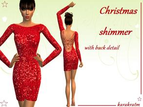 Sims 2 — Christmas Shimmer by karakratm — Red sparkly dress with back detail. Great for christmas parties or parties in