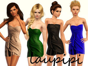 Sims 3 — Layered Dress by laupipi2 — Recolorable dress with different layers! Enjoy :)