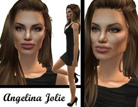 Sims 2 — Angelina Jolie by LovelyDaisies2 — !!---PLEASE READ---!! This is my first attempt, notice I said