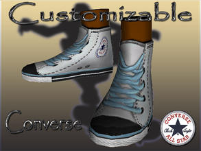 Sims 3 — Customizable Converse by terriecason — Decades of perfection needs no improvement. Update 11-24-12: Sneakers now