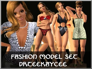 Sims 3 — The Fashion Model Set by drteekaycee — This set contains 5 items. For everyday wear there is the Chain Top that