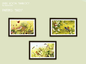 Sims 3 — Paintings birds by Severinka_ — 3 pictures with natural motives from a set of 'Living room Bamboo'. frame