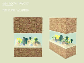 Sims 3 — Aquarium by Severinka_ — Functional aquarium from a set of 'Living room Bamboo'. Can accommodate up to six