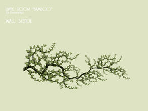 Sims 3 — Stencil 6x3 tree by Severinka_ — Wall stencil size 6x3 with a picture of a tree from a set of 'Living room