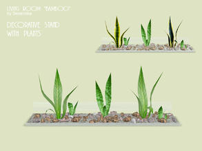 Sims 3 — Plants in stones by Severinka_ — Decorative stand with stones and plants from the set of 'Living room Bamboo'.