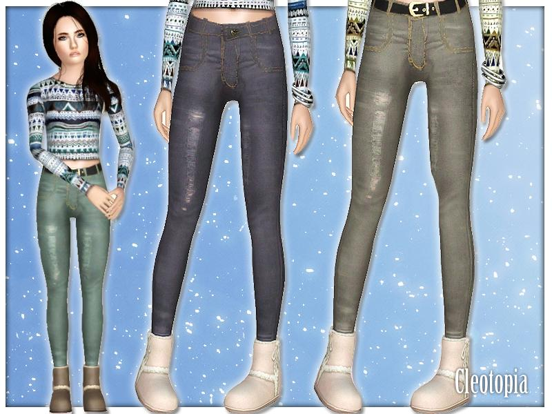 Sims 3 skinny jeans cc