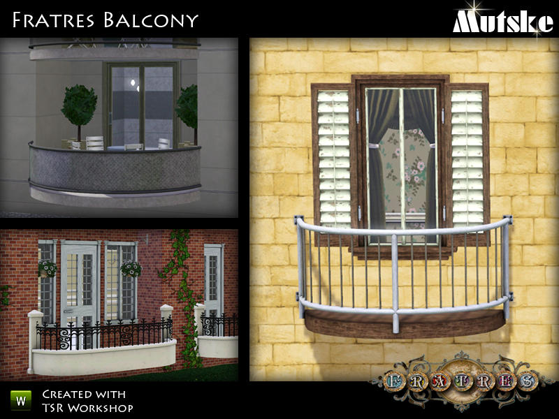 Mutske 39 s fratres balconies for Sims 4 balcony